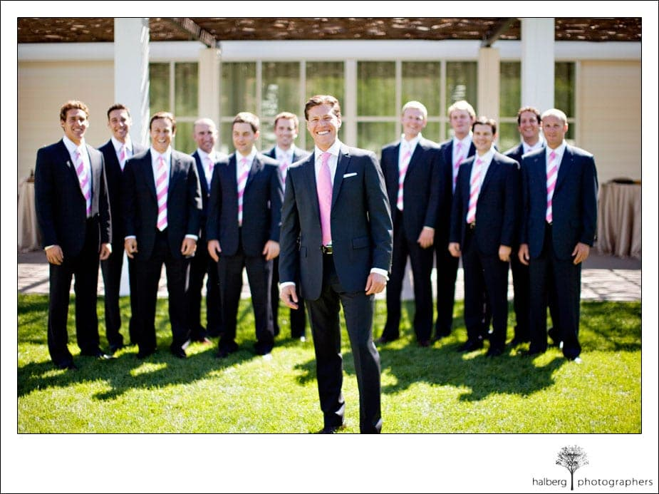 groom with groomsmen at solage wedding