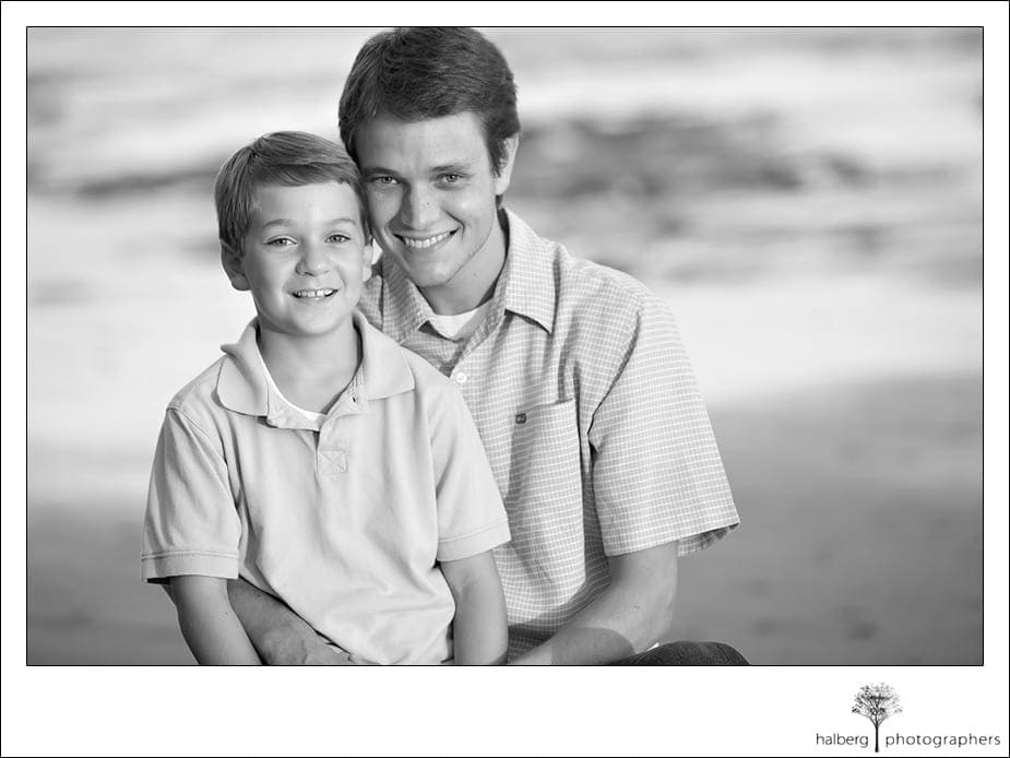 Bleecker sons portrait on santa barbara beach