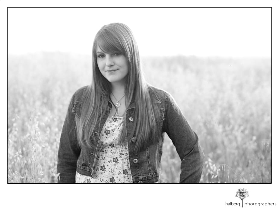 UCSB Senior portrait in field of tall grass