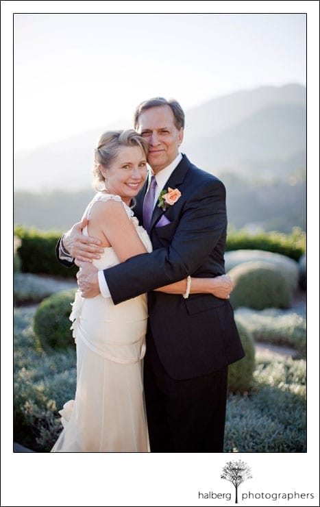 santa barbara wedding portrait of bride and groom