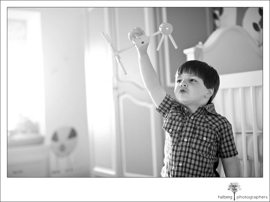 santa ynez lifestyle portrait of boy playing in room