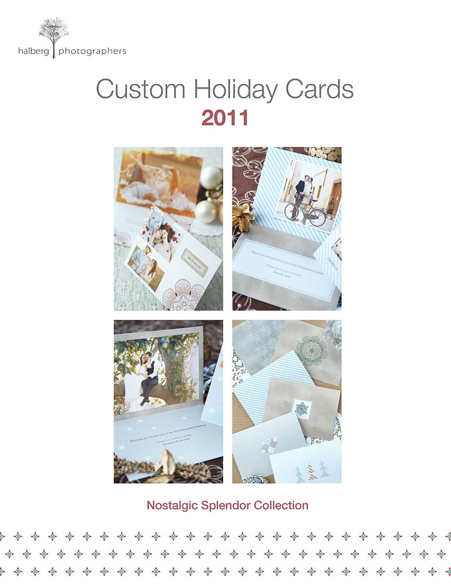 custom holiday card samples for santa barbara family portrait photography