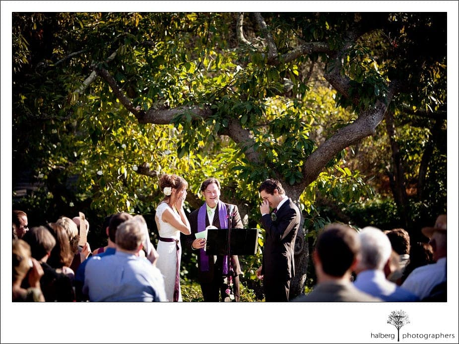 bride and groom crying at montecito wedding