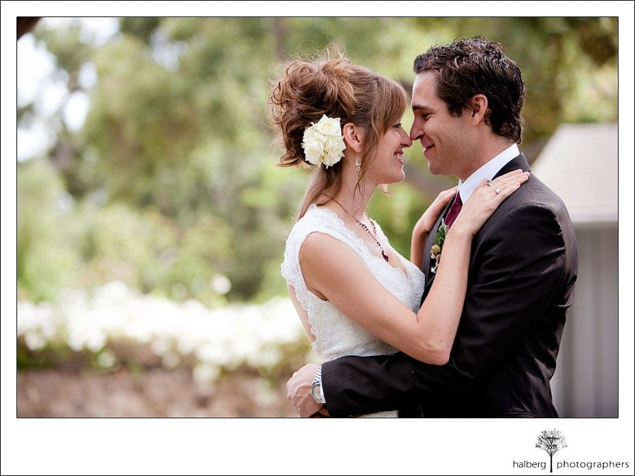 bride and groom portraits at montecito wedding