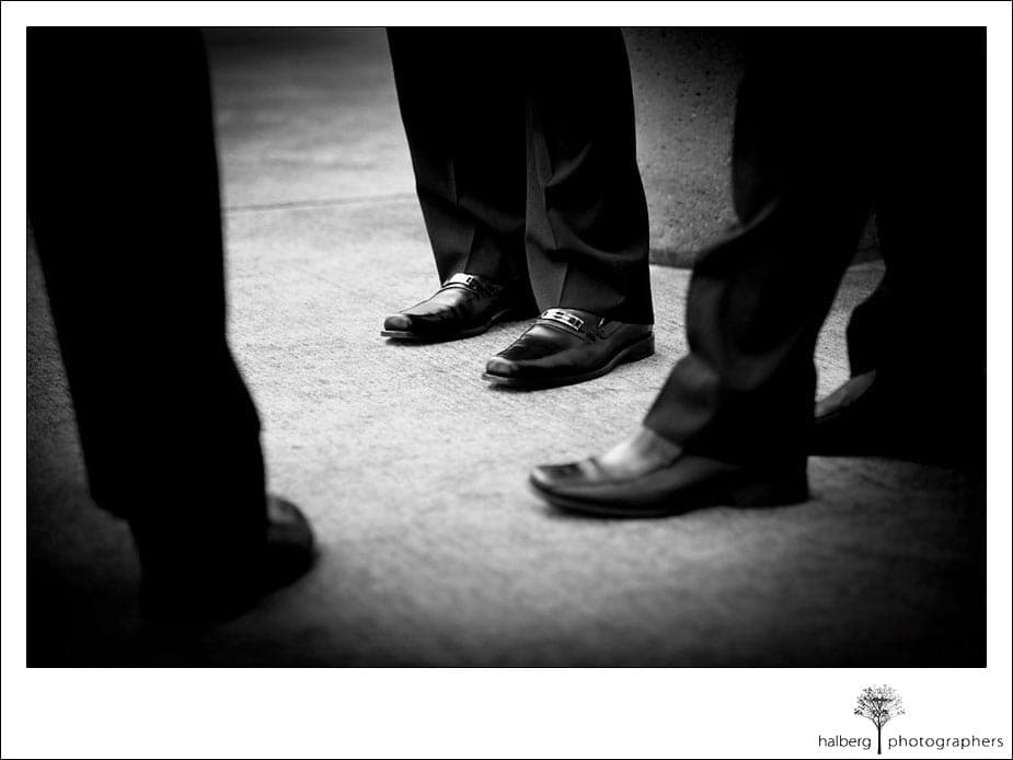 detail of groomsmen shoes at ranch golf club san jose wedding