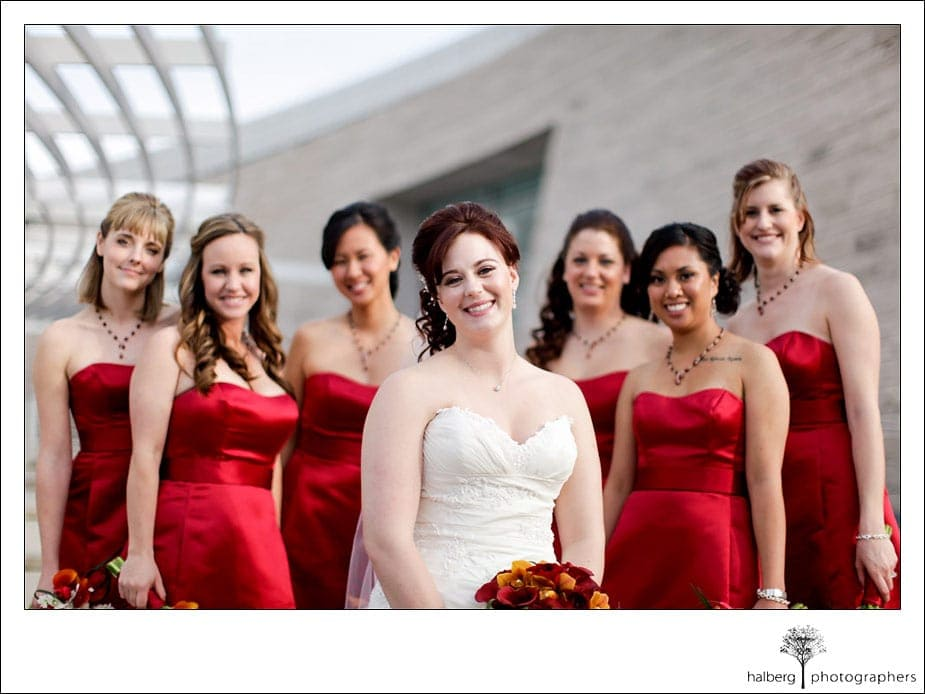 wedding bridal party formals in san jose