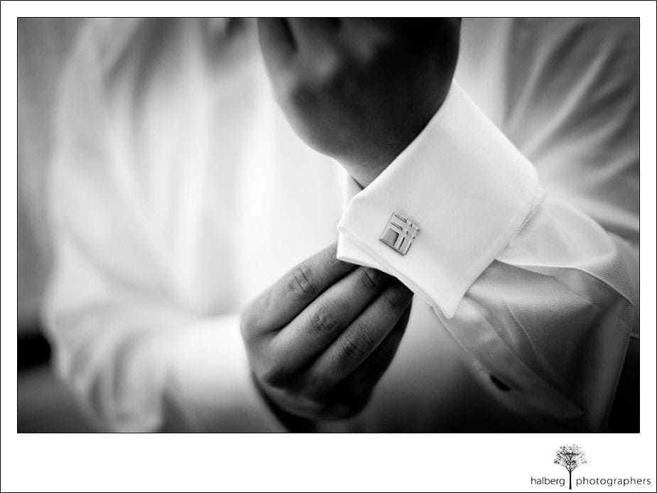 groom's cuff links at the ranch golf club