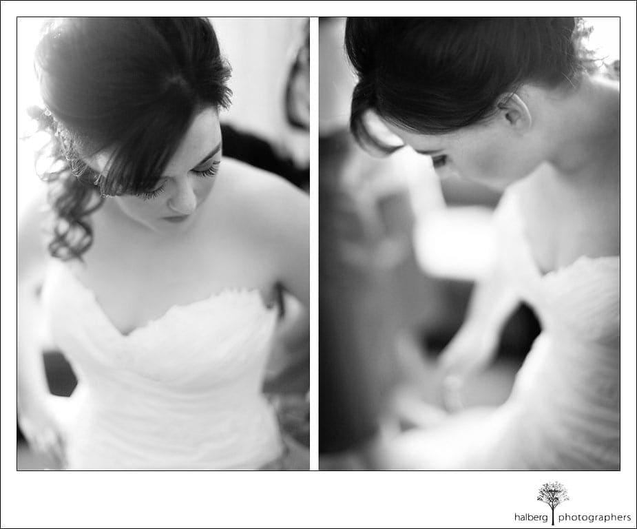 bride before ranch golf club wedding