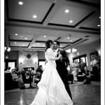 wedding couple first dance at ranch golf club