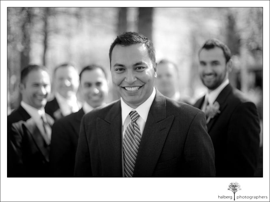 destination groom with groomsmen before his wedding in florida