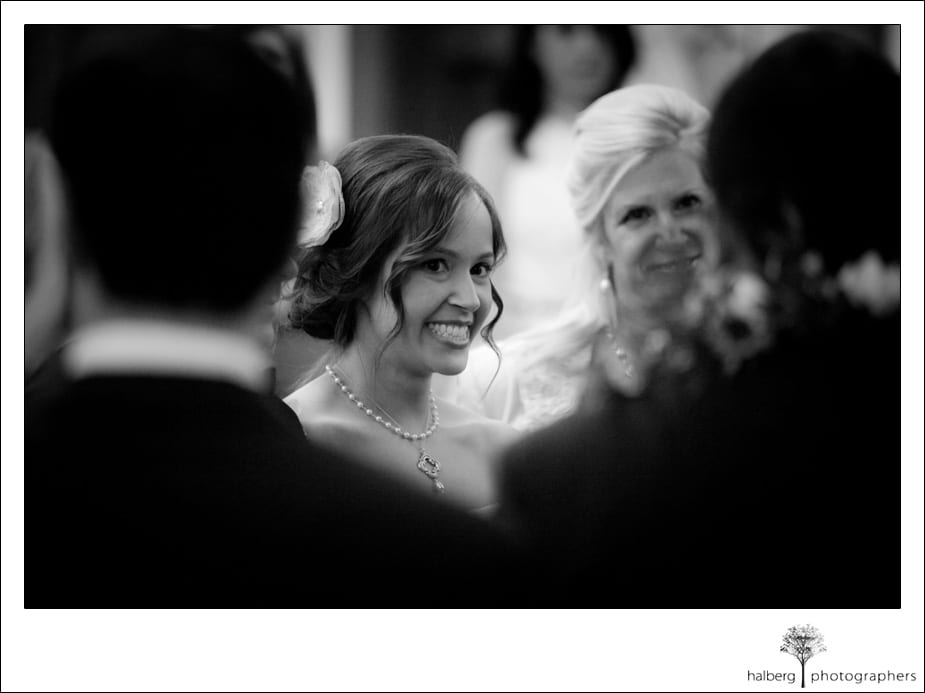 bride smiling at groom at their destination florida wedding