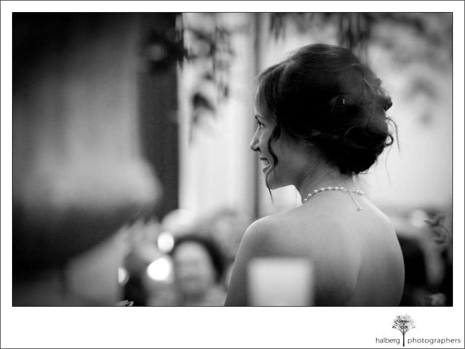 bride smiling at her destination wedding in florida