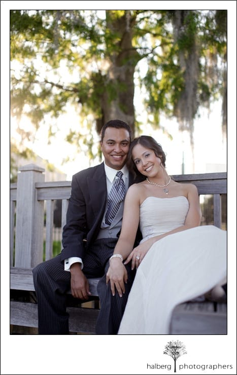 destination wedding bride and groom portraits in florida