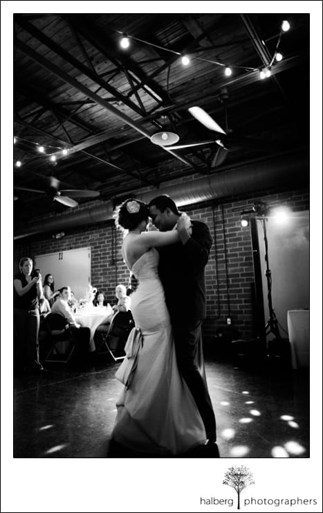 bride and groom first dance at their destination wedding reception