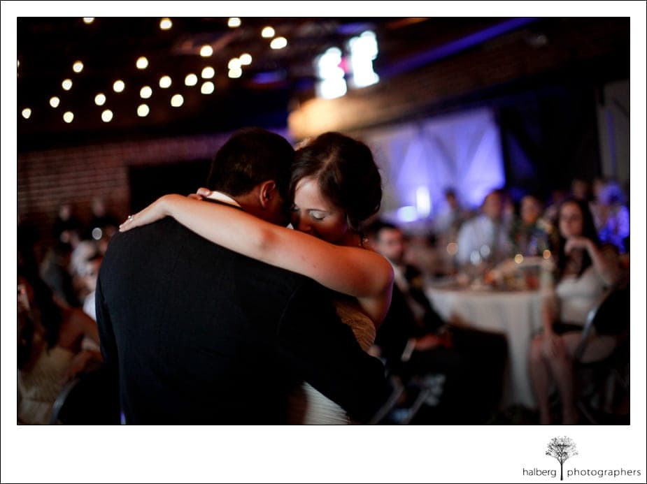 first dance of bride and groom at their destination wedding in florida