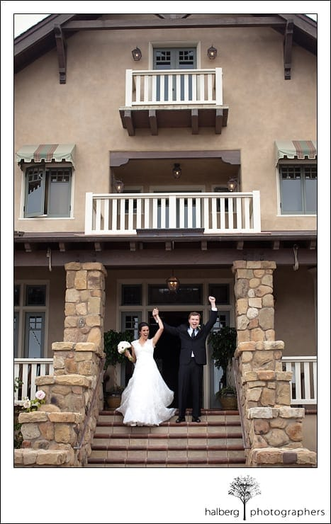 bride and groom announced at their Heartstone Ranch Wedding