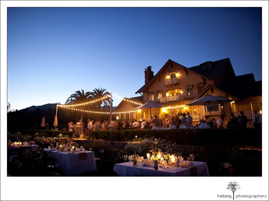 Heartstone Ranch Wedding at night