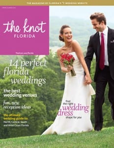 our wedding photography published in the knot magazine