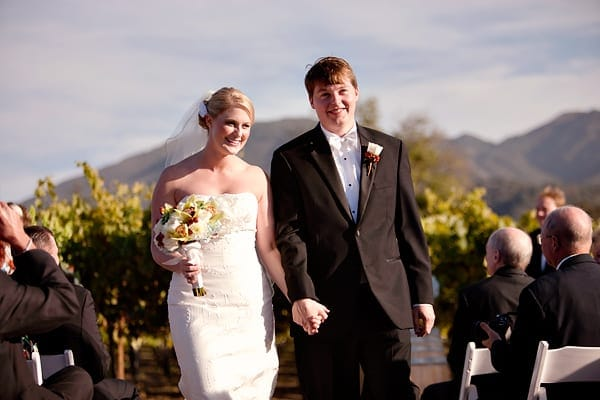 Chateau Julien vineyard wedding recessional
