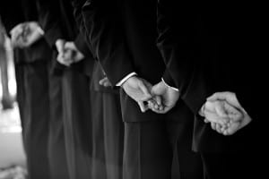 wedding photography detail of the groom's hands