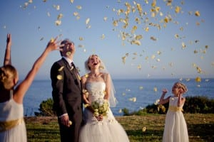 wedding flower girls at Dos Pueblos Ranch with Jeff and Victoria