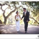 bride and groom walking after their Elings Park Wedding
