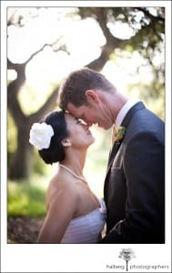 portraits of bride and groom at their Elings Park Wedding