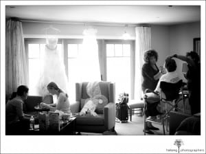bride painting her nails for her wedding at room in Hotel Corque
