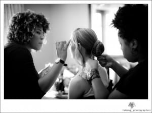 bride at Hotel Corque getting ready for her wedding