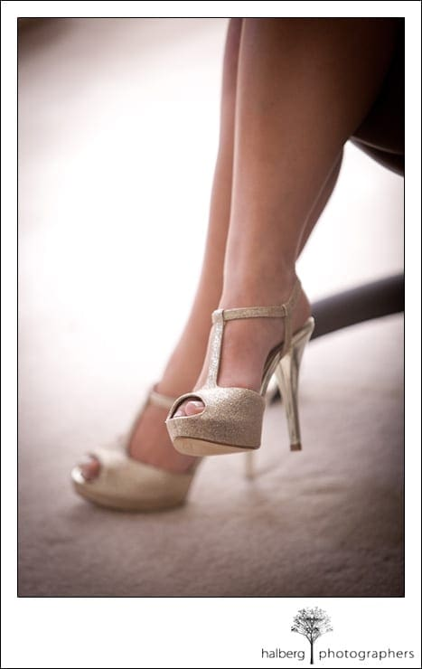bride's wedding shoes for her La Cumbre Country Club Wedding