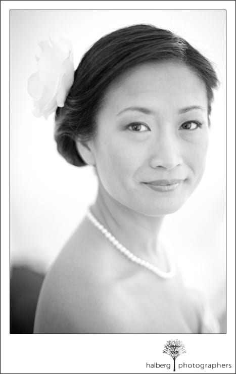 portrait of bride before her La Cumbre Country Club Wedding
