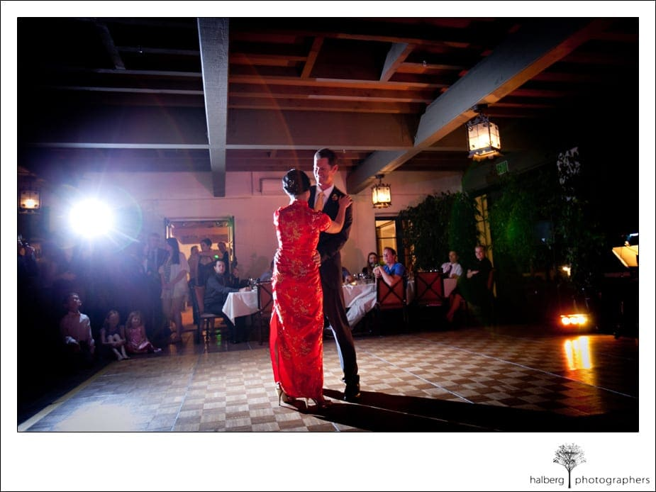 La Cumbre Country Club Wedding couple first dance
