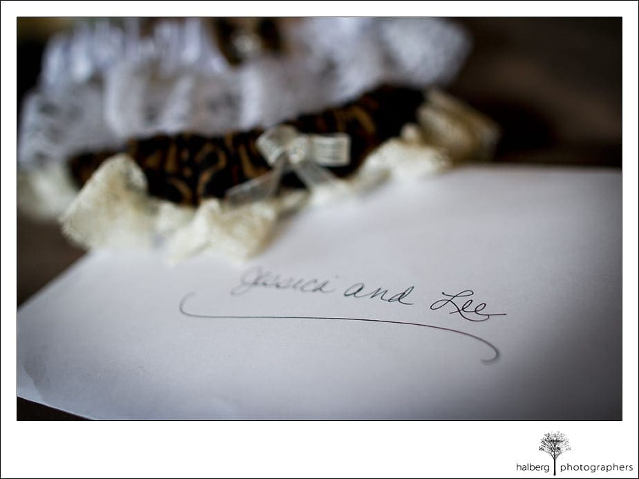 Nicholson Ranch Wedding stationary for bride and groom
