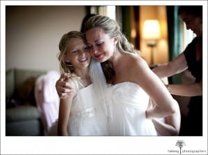 bride with daughter-to-be at her Nicholson Ranch Wedding