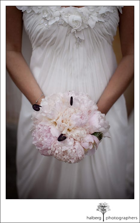bride holding bouquet at her Nicholson Ranch Wedding