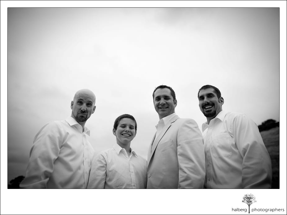 groom with groomsmen prior to his Nicholson Ranch Wedding