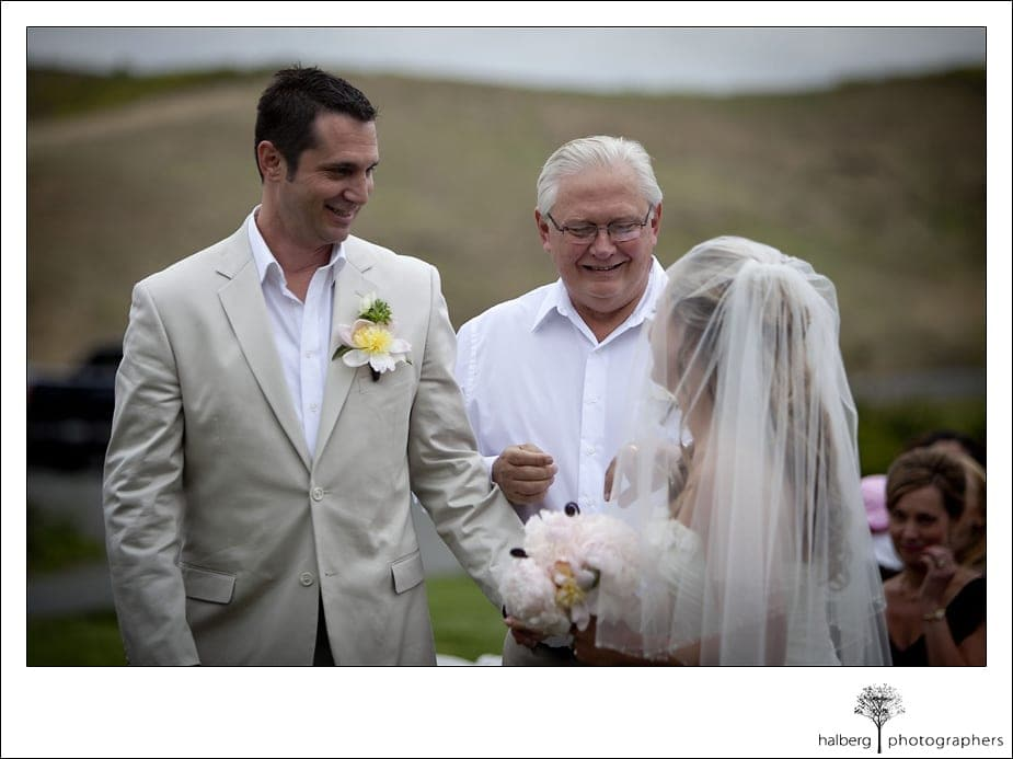 groom taking brides hand at their Nicholson Ranch Wedding