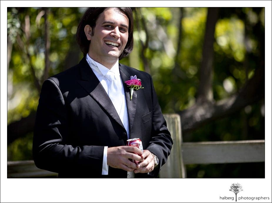 Riviera Country Club Wedding groom smiling at his bride