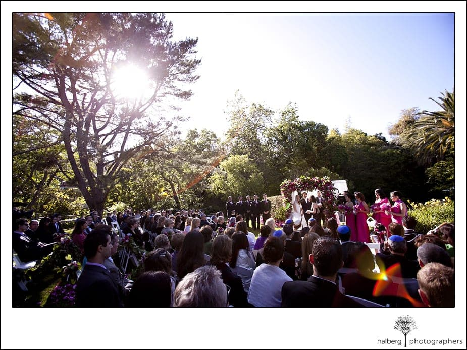 Riviera Country Club Wedding ceremony at private estate