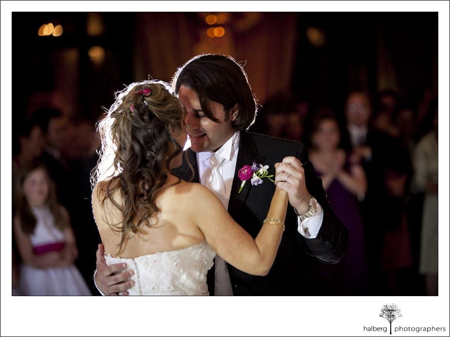 Riviera Country Club Wedding bride and groom first dance