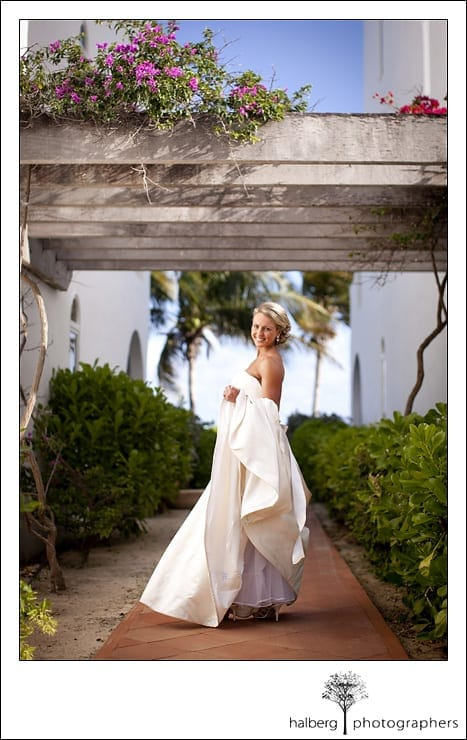 Bridal portrait in Anguilla