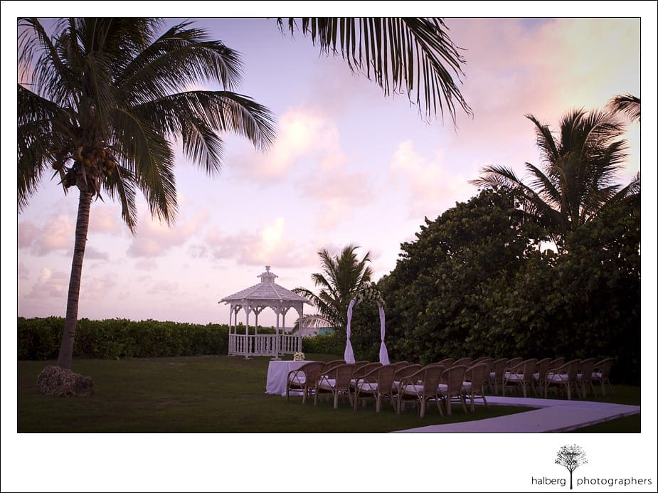 CuisinArt Resort wedding ceremony at sunset