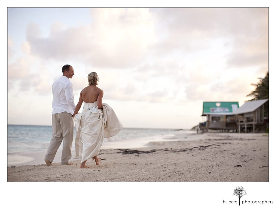 Anguilla shoreline wedding portrait
