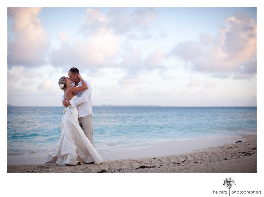 Anguilla beach wedding portrait