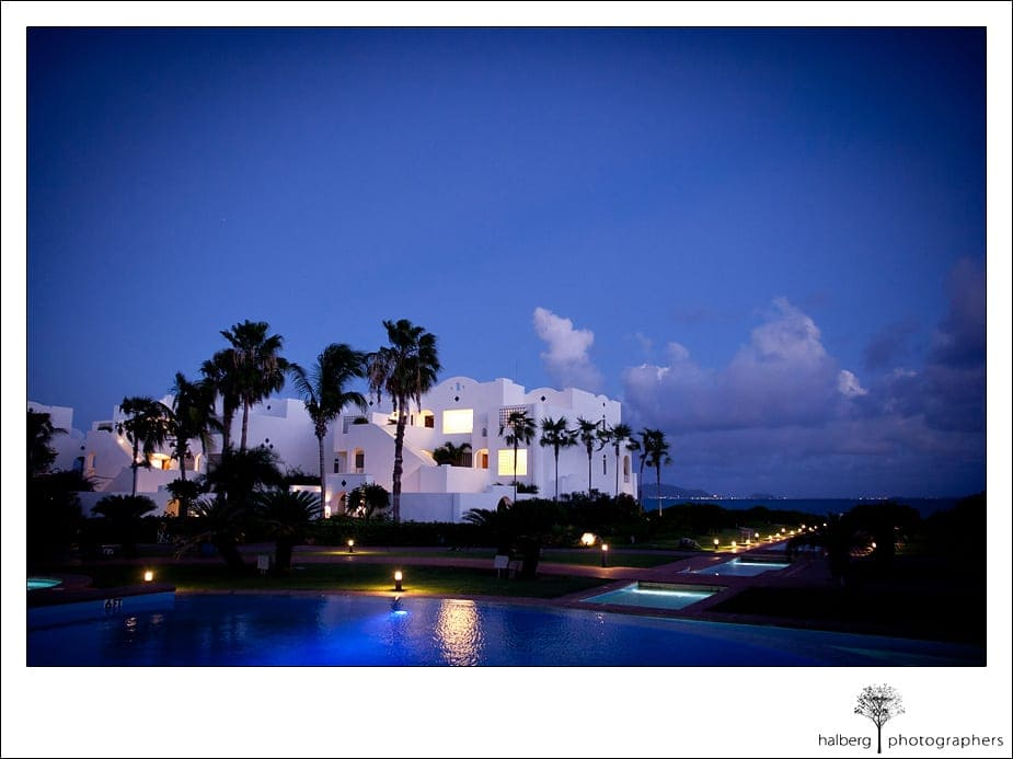 Night photo at CuisinArt Resort