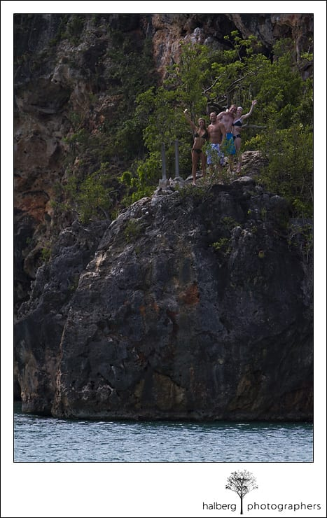 Little Bay Anguilla rock jump