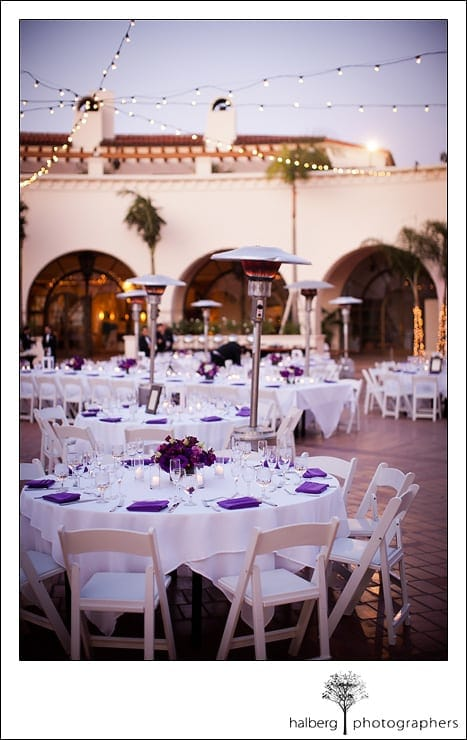 Table decor for wedding reception at the Fess Parker's Doubletree