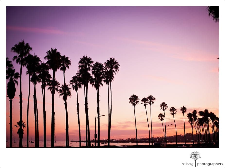 Santa Barbara sunset at the Fess Parker's Doubletree