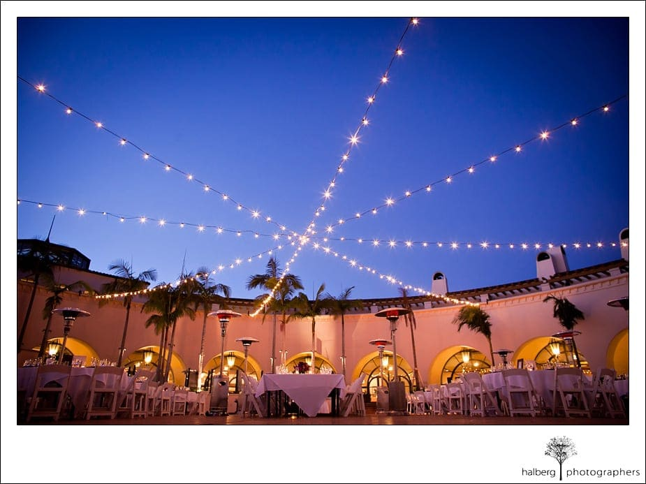 Wedding reception decor at the Fess Parker's Doubletree