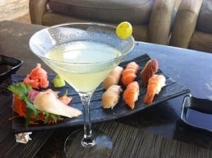 Cocktails and seafood at Viceroy